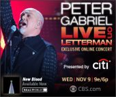 Peter Gabriel Live on Letterman Promo