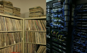 WFUV's vinyl and computer servers